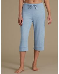 Marks & Spencer - Textured Cropped Pyjama Bottoms - Lyst