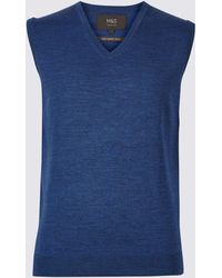 Marks & Spencer - Pure Merino Wool Sleeveless Jumper - Lyst