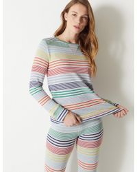Marks & Spencer - Rainbow Print Lounge Top - Lyst