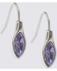 Marks & Spencer - Navette Drop Earrings Made With Swarovski® Elements - Lyst