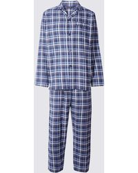 Marks & Spencer - Pure Cotton Checked Pyjamas - Lyst