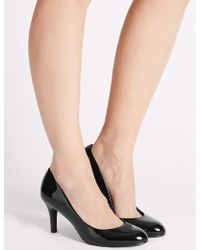Marks & Spencer - Wide Fit Stiletto Almond Toe Court Shoes - Lyst