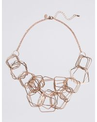 Marks & Spencer - Hexagon Links Necklace - Lyst