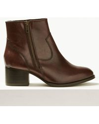 Marks & Spencer - Leather Ankle Boots - Lyst