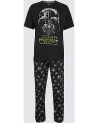 Marks & Spencer - Star Warstm Pure Cotton Printed Pyjama Set - Lyst