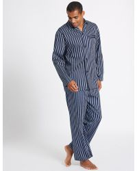 Marks & Spencer - Pure Cotton Striped Pyjamas - Lyst