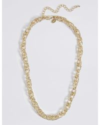 Marks & Spencer - Gold Plated Textured Link Necklace - Lyst