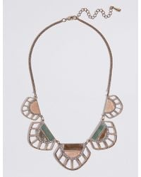 Marks & Spencer - Cut Out Shell Collar Necklace - Lyst
