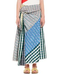 Marni - Belted Skirt In Taffeta With Bow - Lyst