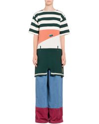 Marni - Striped Knit In Cotton And Jersey - Lyst