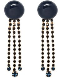 Marni - Resin Earrings With Rhinestone Charms - Lyst