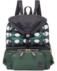 Marni - Porter Multi-zip Backpack-fanny Pack In Printed Nylon - Lyst
