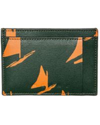 Marni - Cardholder In Black And Orange Calfskin With Sail Print - Lyst