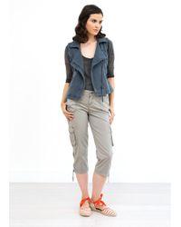 Marrakech - Scarlett Knit Moto Vest - Lyst