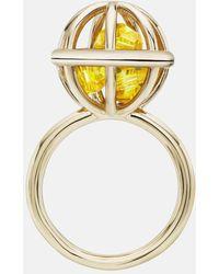 Mary Katrantzou - Nostalgia Sphere Ring Light Topaz - Lyst