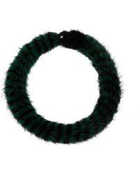 Mary Katrantzou - Twisted Collar Mink - Lyst