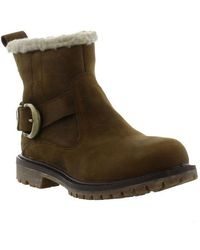 Timberland - Nellie Biker Waterproof Boots - Brown - Lyst