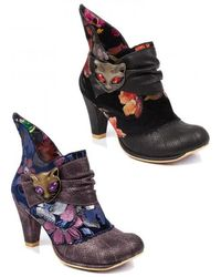 Irregular Choice - Miaow High Heel Boots - Lyst