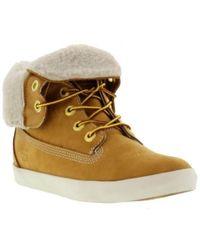 Timberland - Earthkeeper Glastenbury Fleece Boots - Wheat - Lyst