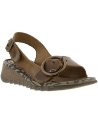 Fly London - Tram Leather Sandals - Lyst