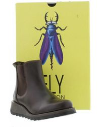 Fly London - Salv Womens Casual Ankle Boots Women's Mid Boots In Brown - Lyst