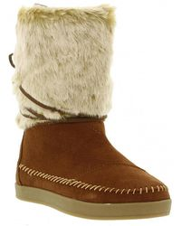 033dc40e482 TOMS Chestnut Suede Trim Women S Nepal Boots in Brown - Lyst
