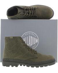 Palladium - Pallabosse Mid Oiled Leather Chukka Boots - Lyst