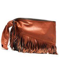 Isabel Marant - Farwo Tasselled Leather Clutch - Lyst