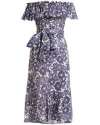 Lisa Marie Fernandez - Mira Floral-print Cotton Dress - Lyst