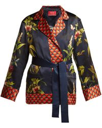 F.R.S For Restless Sleepers - Giocasta Jungle-print Silk Jacket - Lyst