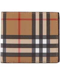 3bb5abcfeee4 Burberry Leather   House Check Bifold Leather Wallet in Brown for ...