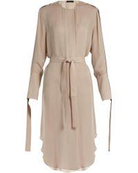 CALVIN KLEIN 205W39NYC - Leryn Round-neck Silk-georgette Dress - Lyst