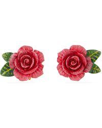 Dolce & Gabbana - Rose Stud Earrings - Lyst