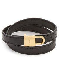 Buscemi - Wraparound Leather Bracelet - Lyst