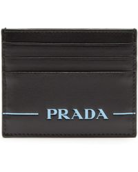 Prada - Logo Debossed Card Holder - Lyst