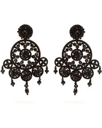 Oscar de la Renta - Dreamcatcher Beaded Drop Earrings - Lyst