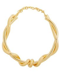 Oscar de la Renta - Twisted Rope Necklace - Lyst