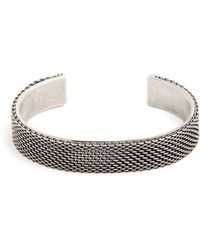 Title Of Work - Macro Hard Sterling-silver Cuff - Lyst