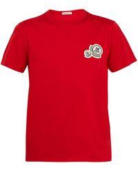 Moncler - Badge-appliqué Cotton-jersey T-shirt - Lyst