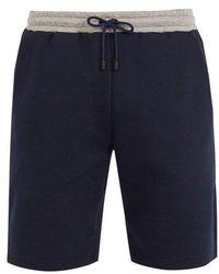 Fendi - Logo-jacquard Tape-trimmed Shorts - Lyst