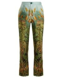 F.R.S For Restless Sleepers - Crono Floral-print Silk-twill Pyjama Trousers - Lyst