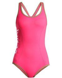 Fendi - Racer-back Performance Swimsuit - Lyst