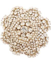 Rebecca de Ravenel - Ava Crystal-embellished Flower Brooch - Lyst