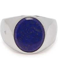 Tom Wood - Lapis Sterling Silver Signet Ring - Lyst