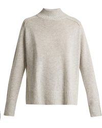 Allude - High-neck Cashmere Jumper - Lyst