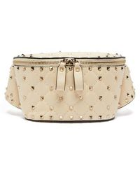 Valentino - Rockstud Spike Quilted-leather Belt Bag - Lyst