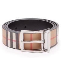 Burberry - Reversible Vintage Check Belt - Lyst