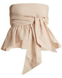 Apiece Apart - Twyla Convertible Linen-blend Top - Lyst