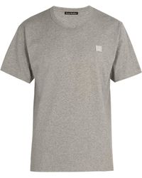 Acne Studios - Nash Face Embroidered Cotton Jersey T Shirt - Lyst