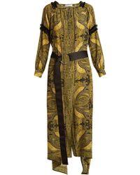 Amanda Wakeley - Paisley-print Crepe De Chine Dress - Lyst